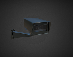 CCTV PBR Camera 1 3D asset VR / AR ready