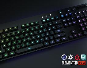 Logitech Wireless RGB Computer Keyboard 3D asset