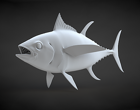 Yellowfin Tuna 3D Printable Model