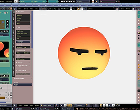 3D Facebook Icon Angry