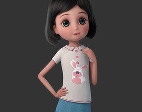 3D model Cartoon Girl Rigged lovely