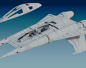 3D print model Buck Rogers StarFigther Thunder Fighter STL