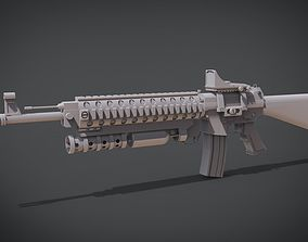 Assualt Rifle based on Fal 3D printable model