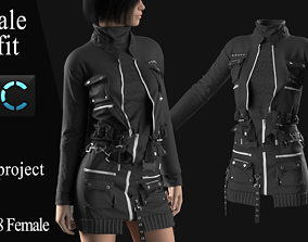 3D Female Modern Outfit