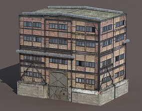Old Factory Low Poly 129 3D