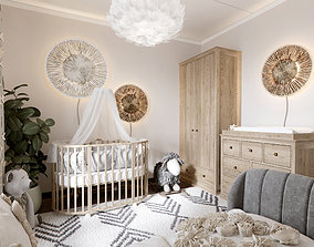 Kids baby room scene 3D