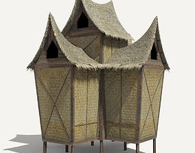 3D model Minangkabau Hut