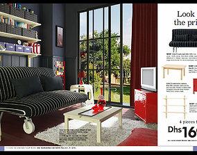 3D print model IKEA living room