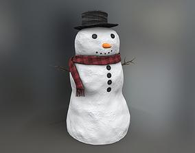 Snowman 3D asset VR / AR ready PBR