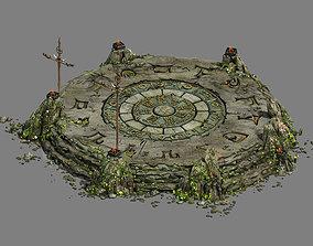 Stone - round altar 3D model