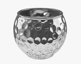 Hammered metal vase 3D model