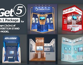 EXHIBITION STAND PACKAGE 04 3D model