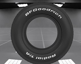 3D asset 70s muscle car BFGoodrich Radial TA tyre