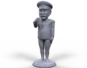 Stalin stylized high quality 3D printable miniature