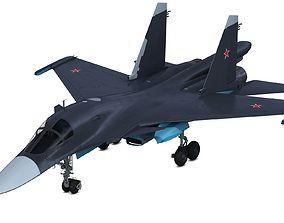 3D model SU 34 Sukhoi