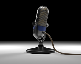 The Retro Microphone 3D model