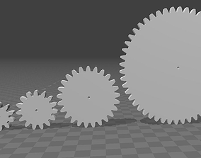 3D printable model Cog-wheels 9 to 50 teeth m2 h5 d2 bis
