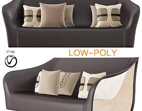 3D asset Split Chairs Alex Hull Split Sofa