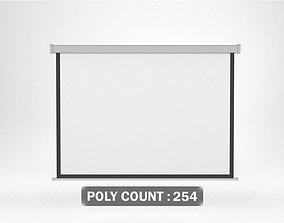 3D model White Projection Screen