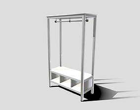 3D asset Ikea Open Wardrobe