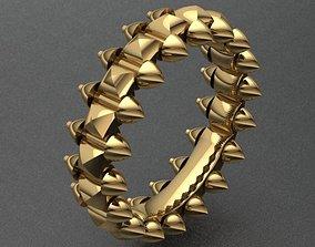 3D printable model Luxury Modern Golden Band Ring