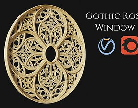 3D PBR Gothic Rose Window