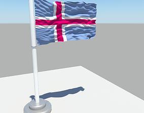 Iceland flag 3D model