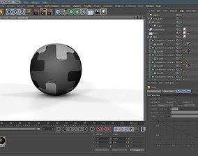 3D soccer ball sports