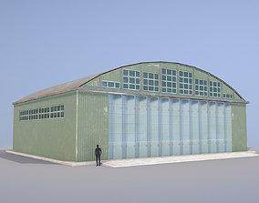 Airport Hangar SmallHangar 01 closed 3D model