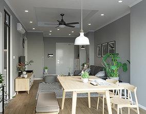 Scandinavian Full House Design 3D model
