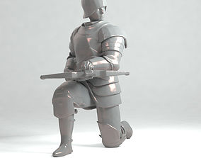 Crossbowman Middle Ages 3D printable model