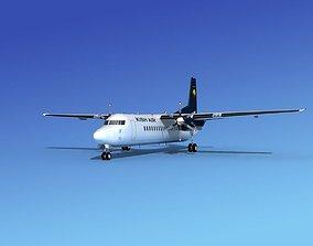 3D model Fokker 50 Kish Air