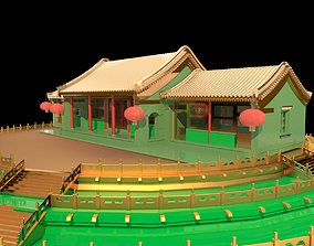 Chinese ancient house tiananmen 3D