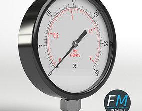 3D model PBR Pressure gauge