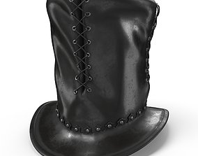3D model Leather Top Hat