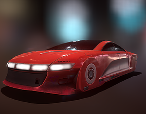 Cyberpunk Speed Car 3D asset low-poly