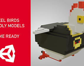 Voxel birds 3d lowpoly models - Game Ready VR / AR ready