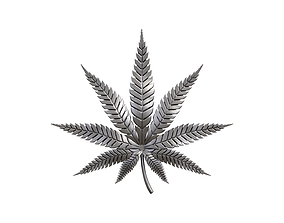 Hemp cannabis leaf 3D print model