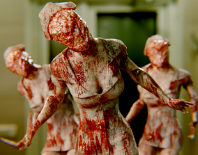3D model Nurse Horror Game