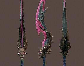 3D asset Game sword