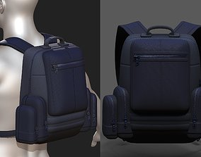3D asset Backpack military combat soldier armor 1