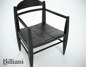 3D model Billiani Vincent VG lounge chair black