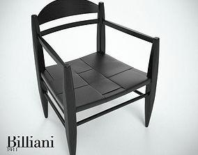 3D model Billiani Vincent VG lounge chair black