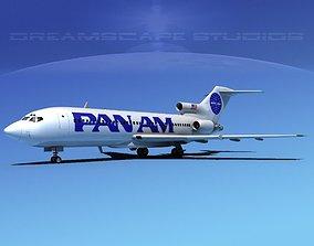 3D model Boeing 727-100 Pan Am 2