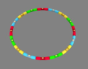 Cartoon hula hoop 3D asset