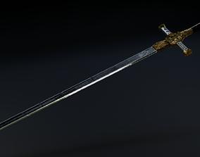 3D model VR / AR ready Rune Sword