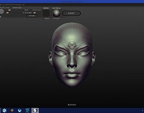 Woman Face Mask Cleopsis 3D printable model