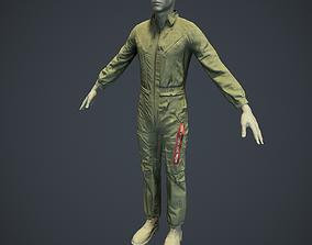 3D model Mechanic Uniform for Games