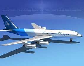 Boeing 707 Baltimore Clipper 3D model