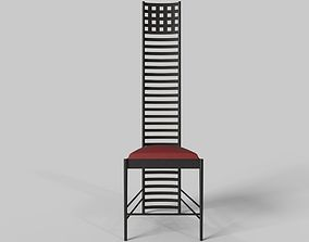 Hill House Chair by Charles Rennie 3D model